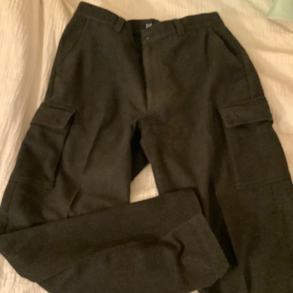 CARGO PANTS - 100% WOOL BLEND in CHARCOAL GREY